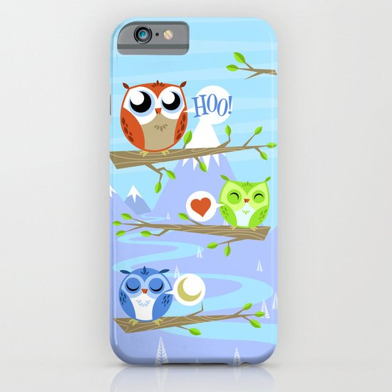 Owl Hangout With You iPhone & iPod Case