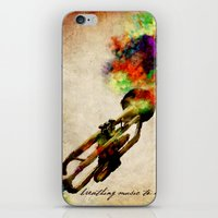 BREATHING MUSIC TO LIFE iPhone & iPod Skin