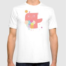 Owly Owl//One White Mens Fitted Tee SMALL