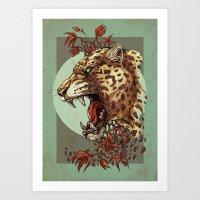 Jaguar King Art Print