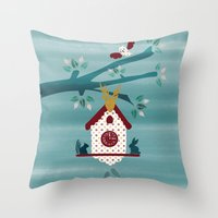 Cuckoo Tree  Throw Pillow