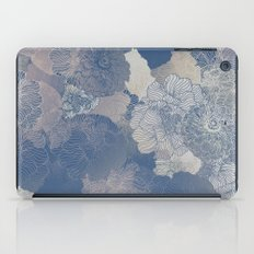 Airforce Blue Floral Hues  iPad Case