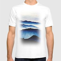 Mountain Landscape. Mens Fitted Tee White SMALL