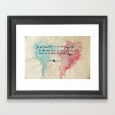 Tolstoy's Love Framed Art Print
