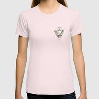 Earth Womens Fitted Tee Light Pink SMALL