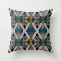 Trippin' on a mountain and falling into space Throw Pillow