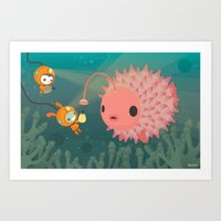 The Octonauts Pufferfish Art Print
