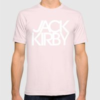 Classic : Jack Kirby Black  Mens Fitted Tee Light Pink SMALL