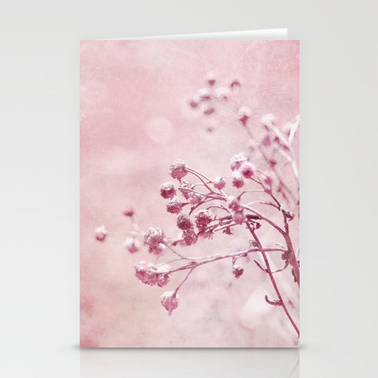 pink floral Stationery Card