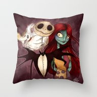 The Nightmare Before Chr… Throw Pillow