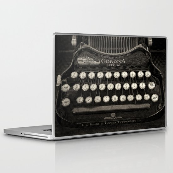 Old Typewriter Keyboard Laptop & iPad Skin