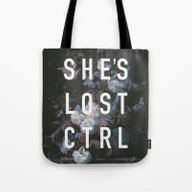 Tote Bag featuring She's Lost Control by Hans Eiskonen