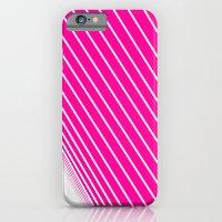 pink & white stripes iPhone 6 Slim Case