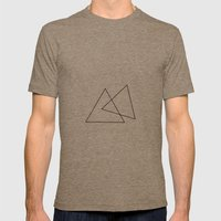 Double Triangles Mens Fitted Tee Tri-Coffee SMALL