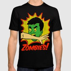 Zombies! Black SMALL Mens Fitted Tee