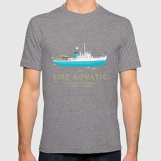 The Life Aquatic with Steve Zissou Mens Fitted Tee Tri-Grey SMALL