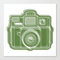 I Still Shoot Film Holga Logo - Green Canvas Print