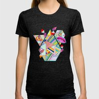 CIRCUS -C A N D Y- POP Womens Fitted Tee Tri-Black SMALL