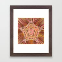 Vintage Star Aura Framed Art Print