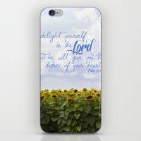Sunflower Delight - Psal… iPhone & iPod Skin