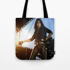 Alice Cooper Fence Stance Tote Bag