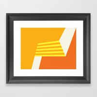 Orange Abstract Framed Art Print