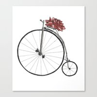 Christmas Bicycle Canvas Print