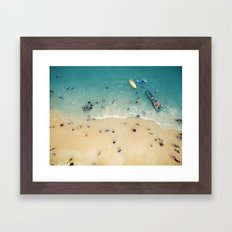 People at the beach Framed Art Print