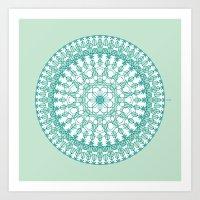 Octagon Rosette 001 | Mi… Art Print