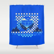 Chaos Emerald Shower Curtain
