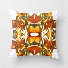 Rainbow Warp - White Throw Pillow
