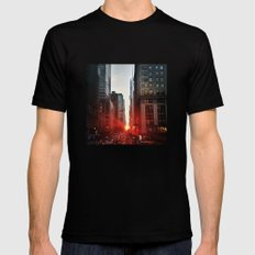 manhattan sunset 6 SMALL Mens Fitted Tee Black