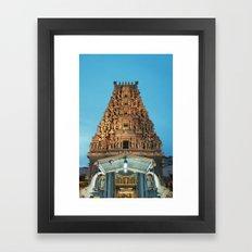 HINDU TEMPLE Framed Art Print
