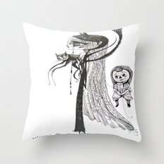 welcome home annabelle Throw Pillow