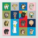 Lucky Cats - LOLcats Canvas Print