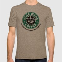Star Wars Coffee Mens Fitted Tee Tri-Coffee SMALL