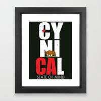 CyniCAl - White Framed Art Print