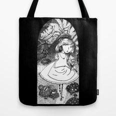 Alice in Creeperland Tote Bag