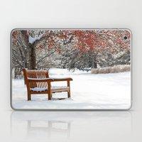 Winter Bench and Crabapple Tree Laptop & iPad Skin