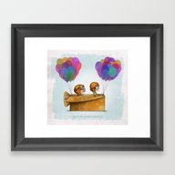 UP Pixar — Love Is Th… Framed Art Print