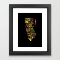 Alphabet Cities 002 - New York Framed Art Print