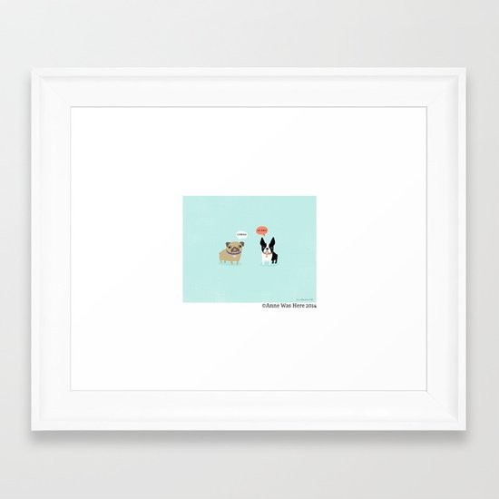 Dog Fart Framed Art Print