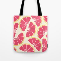 Citrus: Grapefruit Tote Bag