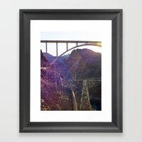 Hoover Dam Electicity Towers Framed Art Print