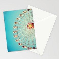 Daydream, Ferris Wheel on Blue Sky  Stationery Cards
