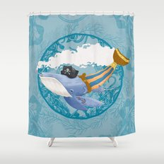 Ballena Pirata Shower Curtain