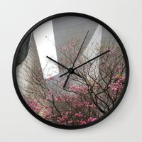 City Blossoms Wall Clock