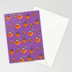 Black Cats and Jack-o-lanterns Stationery Cards