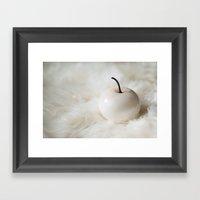 White Apple Framed Art Print