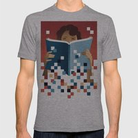 Print To Pixels Mens Fitted Tee Athletic Grey SMALL